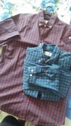 2 camisas sociais tamanho P