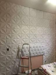 Forros e paredes em Drywall gesso 3d cimento queimado pintura