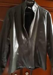 Jaqueta de couro feminina