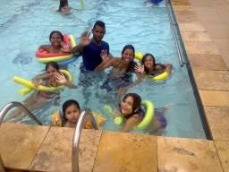Brincadeiras na piscina Recreação aquática