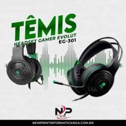 Headset Gamer Evolut Têmis Eg-301 Verde