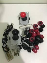 Kit 2 controles arcade estilo japonês