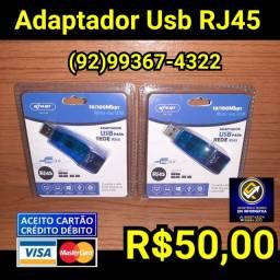 Adaptador de rede RJ45 PC e Notebooks