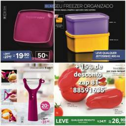 Tupperware com descontos.