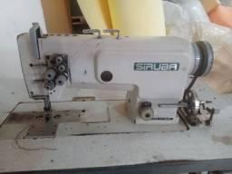 Maquina de costura transpontadeira agulha dupla