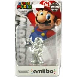 Boneco Amiibo Silver Mario