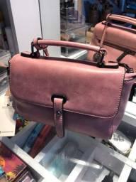 Bolsa Chalita rosa (couro sintético/ótima qualidade)