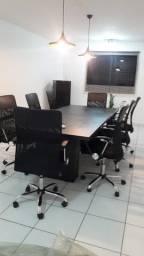 Mesa de reunião com 06 cadeiras