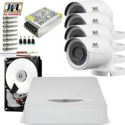 Kit 4 Cameras De Segurança Jfl Hd 720p