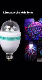 Título do anúncio: Lâmpada festa giratória Led RgB globo magico