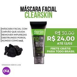 Máscara Facial Negra com Carvão - Removedor de Acnes