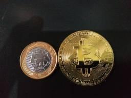 Moeda colecionável Bitcoin