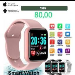 Relógio Smart watch Y68 várias cores.