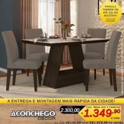 Conjunto de Mesa com 4 Cadeiras 100% MDF Promoção!!!
