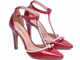 Sapato Feminino Salto Alto Verniz Vermelho Scarpin Torricella Mod.66058F