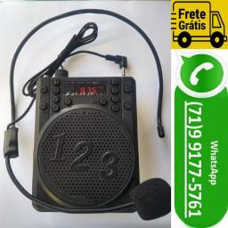 Megafone Caixa de Som Portatil Amplificador Kit Professor / Vendedor A-87