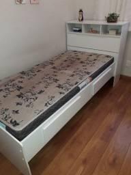 Cama de solteiro com colchão
