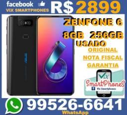 //TOP//-U-S-A-D-O Zenfone 6 8GB 256GB Nota garantia asus 501/\fcpn