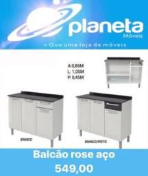 BALCÃO ROSE AÇO PROMOÇÃO!!! Antiguidades