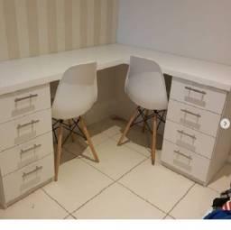 Título do anúncio: Mesa em L para escritório/home office/ recepção