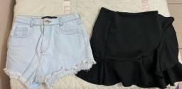 Título do anúncio: Short Jeans You Com e a Saia