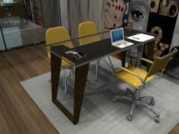 """Mesa de Escritório """"CEO"""". Em Madeira Maciça OBS: Vendas Via Zapp. Gil"""