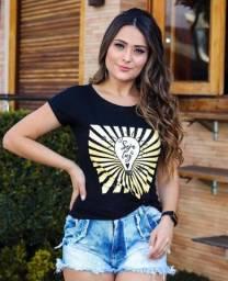 Blusa Modinha T-Shirt Feminina Linda Frase Seja Benção Seja Luz TAM: M