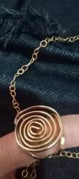 Cordão e anel feminino Rommanel