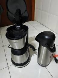 Cafeteira Elétrica 220V, Philco 30 cafés + Garrafa Térmica Termolar