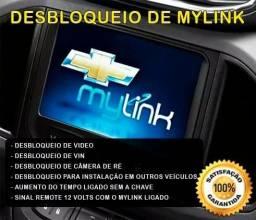 Desbloqueio Mylink Video VIN Camera TV Onix Prisma Cobalt Spin Sonic Tracker S10