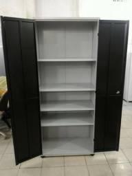 Armário em aço preto para escritório - loja