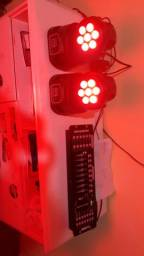 Vendo 2 mini moving head r$ 800,00 reais avista