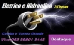 Eletricista e Encanador Emergência água e luz Cuiabá e várzea grande MT 24h!