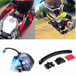 Suporte para gopro extensor capacete moto bike bicicleta go pro