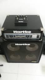 Usado, Stack completo Cabeçote + Gabinete Hartke comprar usado  Gravataí
