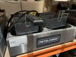 Fritadeira 2 Cubas de 3 litros cada JM