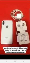 Vende-se IPhone X 64gb,