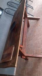 Mesa peroba rosa prancha unica sem emendas 2.10x080 4espessura