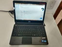 "Notebook STI, Core i5 2.5 GHz, 8 Gb Ram, HD 500 Gb, Tela 14"" - Garantia de 6 meses"