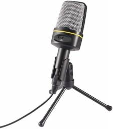 Microfone Condensador Redução de Ruído com Tripé SF-920
