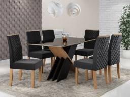 Mesa 6 cadeiras alto padrão Sarah