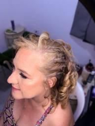 Make e penteado combo