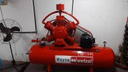 Compressor WAYNE 60pés/Trifásico, Perfeito, restaurado.