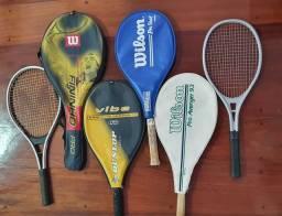 6 Raquetes de Tênis
