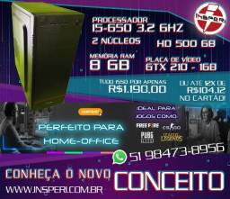 Computador PC Home-Office / Gamer - I5-650 - GTX 210 - 1GB - Memória 8GB - HD 500GB