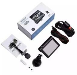 Kit câmera de ré, dianteira e interna + monitor LCD para carro.
