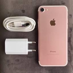 iPhone 7 Rosa de 32GB Impecável Todo Original Tudo Funciona Parcelo Cartão