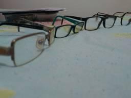 Armações de óculos semi novas originais
