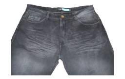 Calça Masculina Jeans Cast Essencial Modelo Reto Número 48 Cor Preto