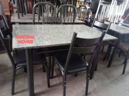 Jogo mesa 4 cadeiras tubolares. 1,15 x 0,75 L. Pçs novas